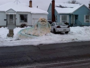 Jabba the Hut Snowman...